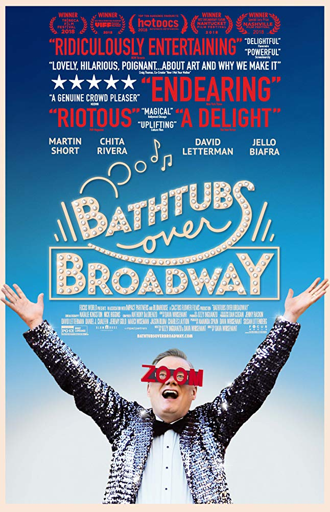 "bathtubs over broadway"" a charmingly unusual story of life, laughter"